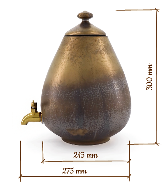 Minnico Ceramic Dispenser Dimentions