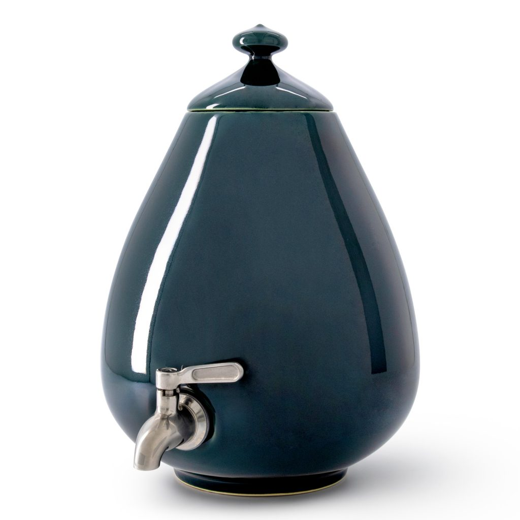 Color - Deep Forest Green Dispenser with Silver Tap