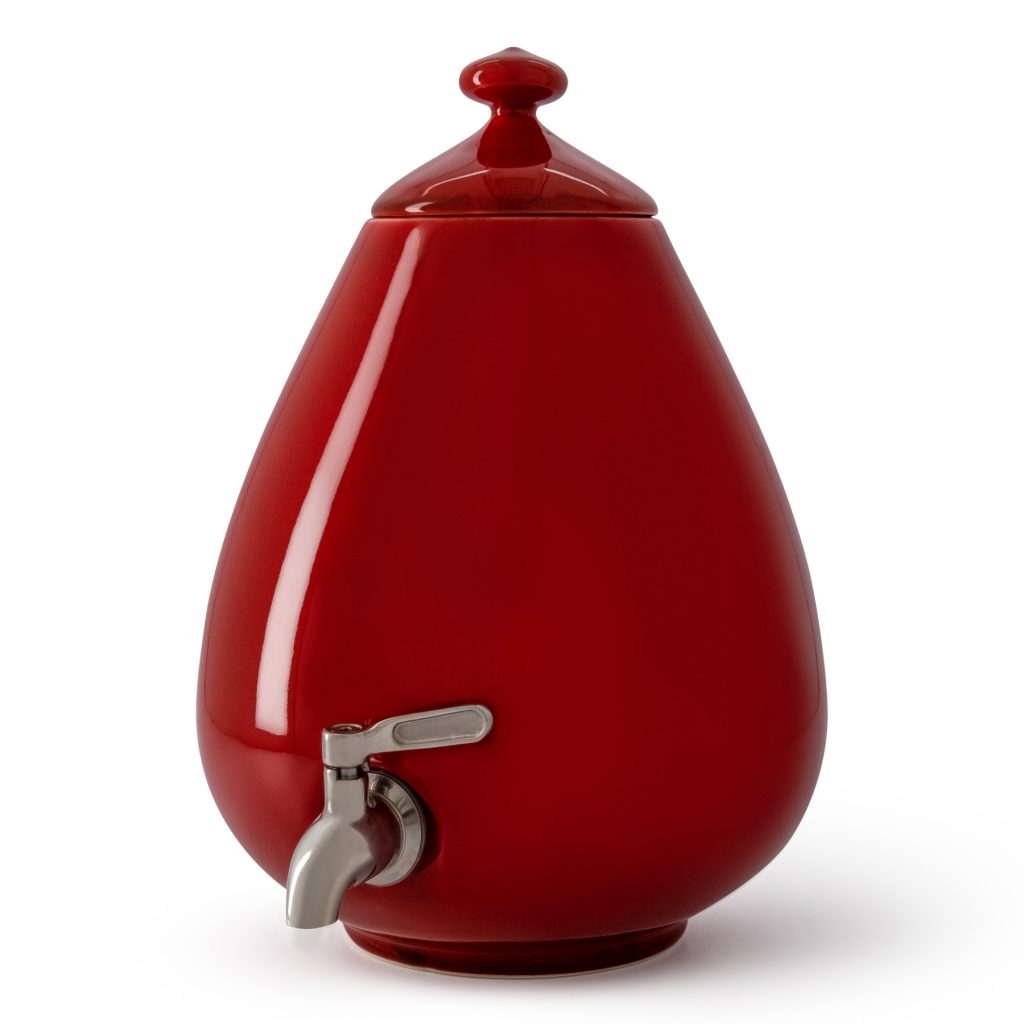 Color - Passion Red Dispenser with Silver Tap