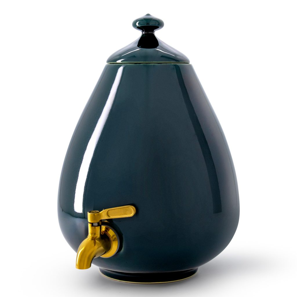 Color - Deep Forest Green Dispenser with Gold Tap