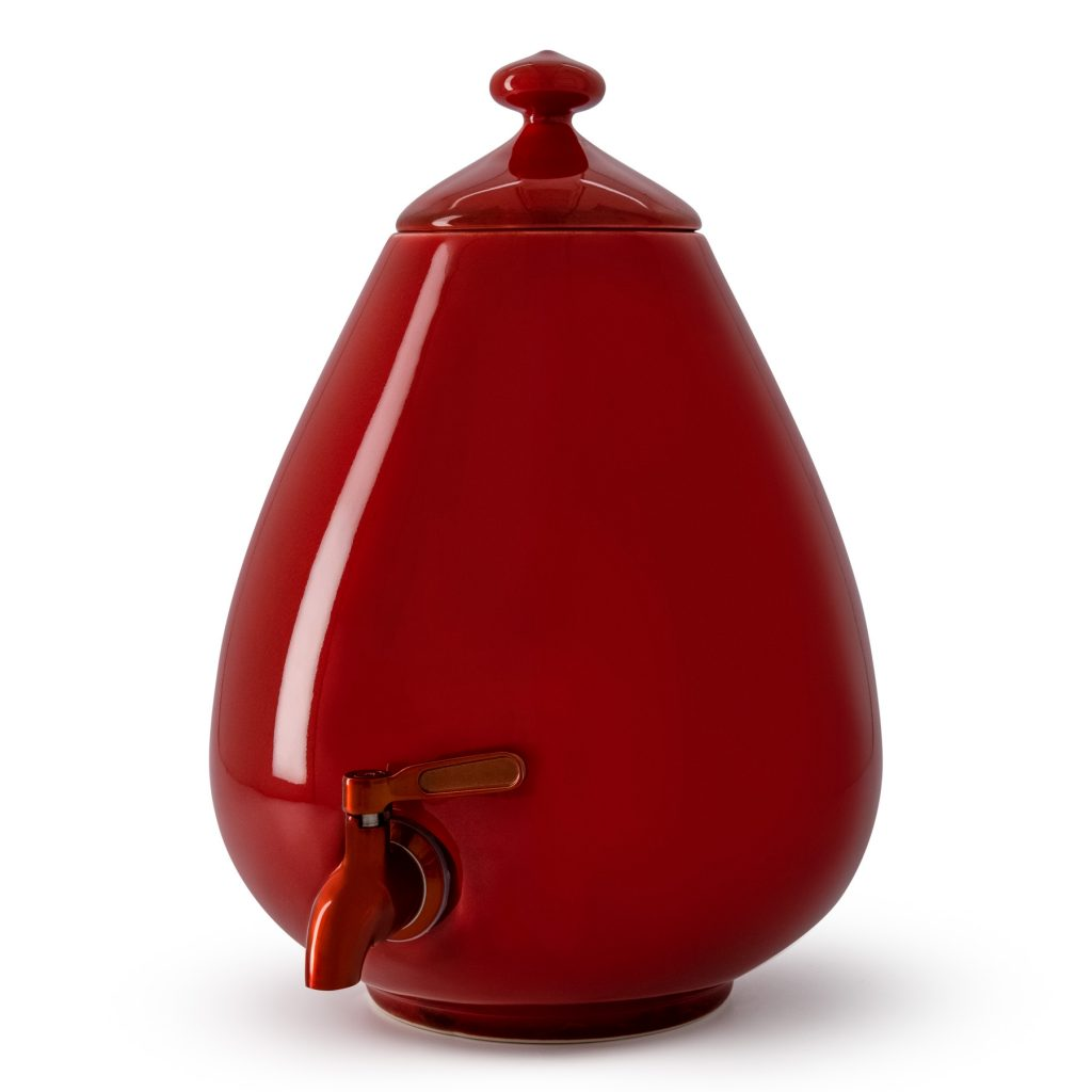 Color - Passion Red Dispenser with Red Tap