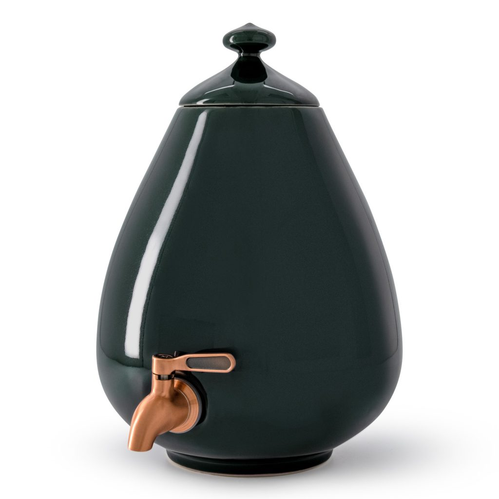 Color - Deep Forest Green Dispenser with Bronze Tap