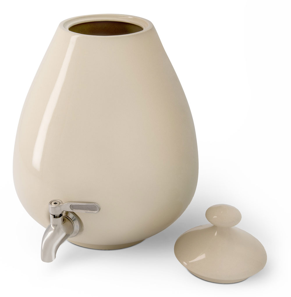 White ceramic Dispenser with Lid